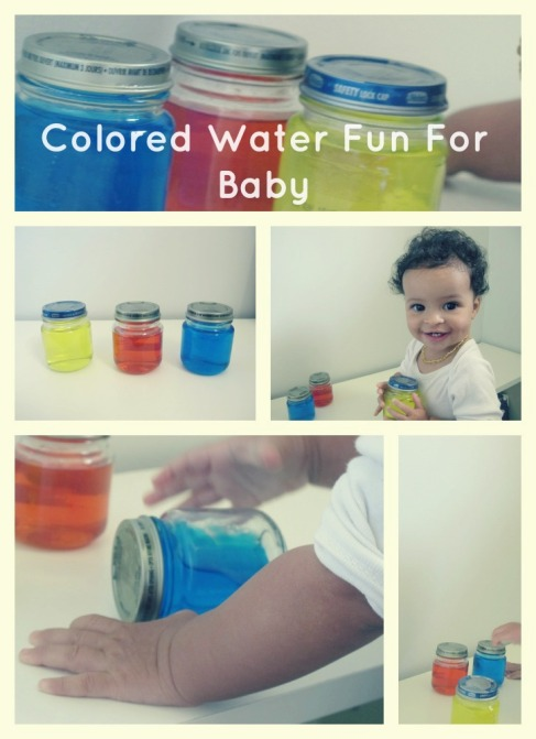 Colored Water Fun For Baby